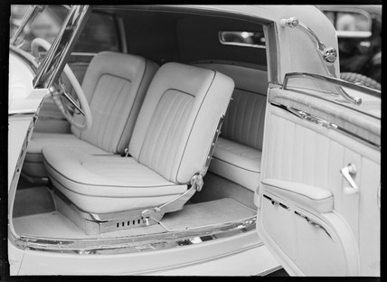 Interior of Mercedes-Benz type 200 Convertible, 1934.