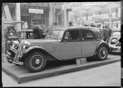 Citroen two-litre family saloon, Paris, 1934.