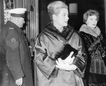 Princess Grace at the Haymarket Theatre, London, December 1959.