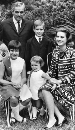 Prince Rainier, Princess Grace and their children, June 1967.
