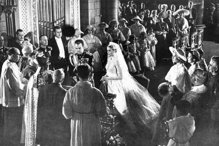 The wedding of Grace Kelly and Prince Rainier, April 1956.