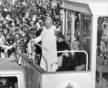 Pope John Paul II in Phoenix Park, Dublin, Ireland, September 1979.