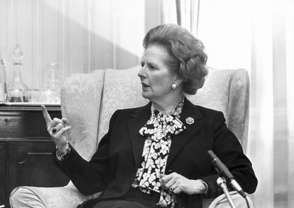 Margaret Thatcher, British Prime Minister, 1988.