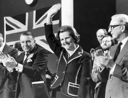 Margaret Thatcher at the Tory Party Conference, October 1979.