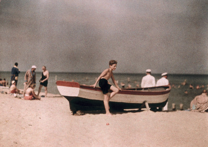Heinz Paneth on the beach, c 1929-1933.