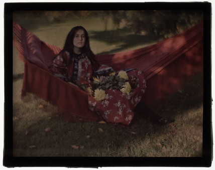'Girl on a Red Hammock' c 1908.