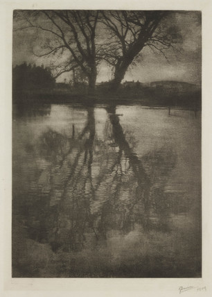 Pond at Weston Green, 1909.