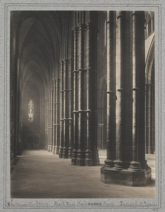 'Westminster Abbey- The South Nave, aisle and across nave', 1912.
