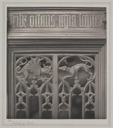 Detail  tomb of Edward III, 1911.
