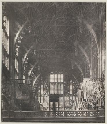 'Fan Vault, Looking West', 1911.
