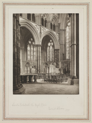 Lincoln Cathedral, The Angel Choir, 1898.