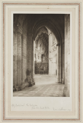 Ely Cathedral, the Octagon from the South Aisle, 1899.