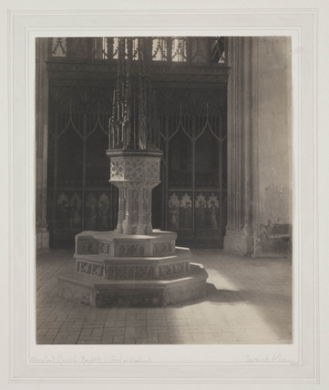 Worstead Church, font at West End, 1907.