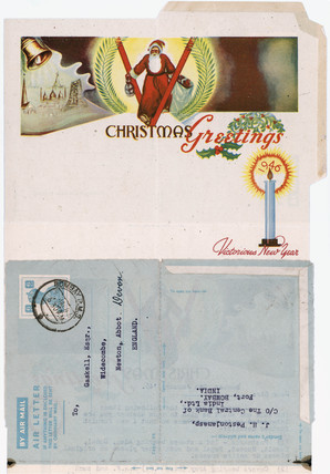 Air Mail letter card, 1946.