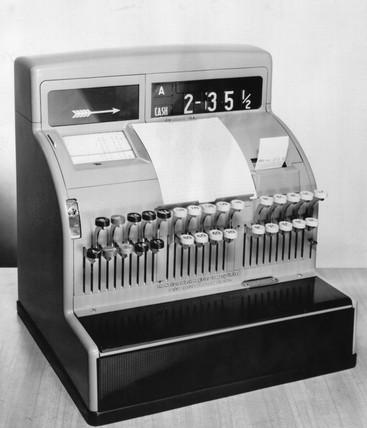 NCR class 100 cash register, 1966.