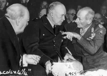Churchill, Eisenhower and Monty, London, October 1951.