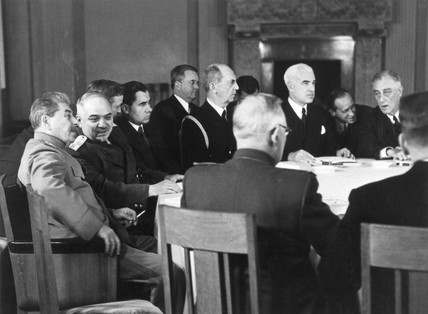 Third meeting of the three powers at Livadia Palace, Yalta, February 1945.
