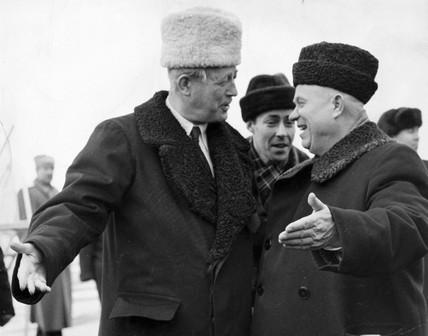 Macmillan and Khrushchev, c 1959.