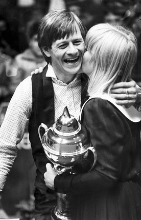 Alex Higgins, Irish snooker player, with his wife Lynn, 1983.