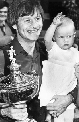 Alex Higgins, Irish snooker player, 1982.