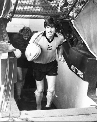 Emlyn Hughes, British footballer, November 1979.