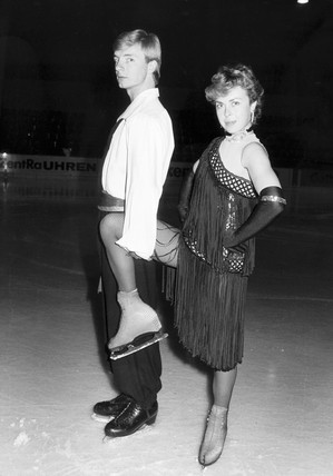 Torvill and Dean, British ice-skaters, July 1985.