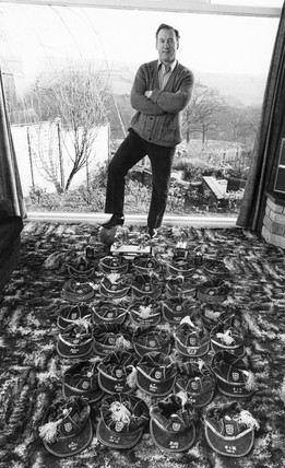 Nat Lofthouse at home, February 1975.