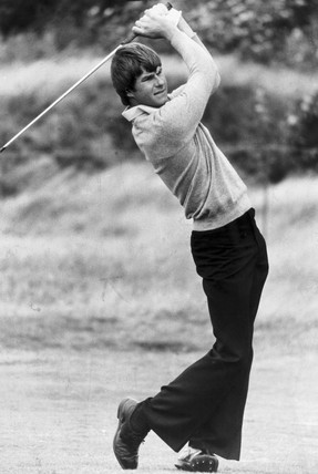 Nick Faldo, British golfer, 1978.