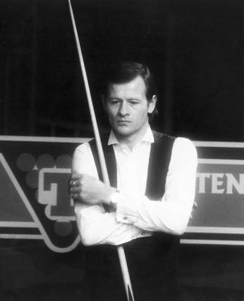 Alex Higgins, Irish snooker player, November 1986.