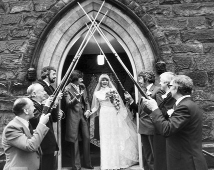 Alex Higgins getting married, January 1980.