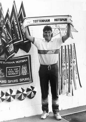 Glenn Hoddle, British footballer, May 1987.