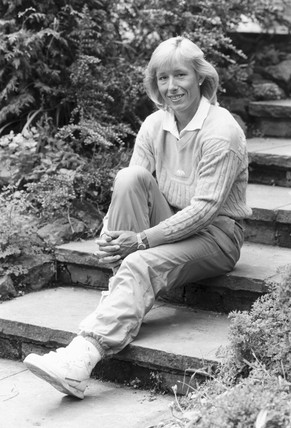 Martina Navratilova, Czech/American tennis player, June 1987.