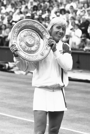 Martina Navratilova, Czech/American tennis player, c 1987.