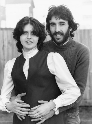 Ricky Villa and pregnant wife Christina, 1982.