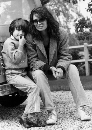 Dominique Nastase and daughter Nathalie, June 1981.