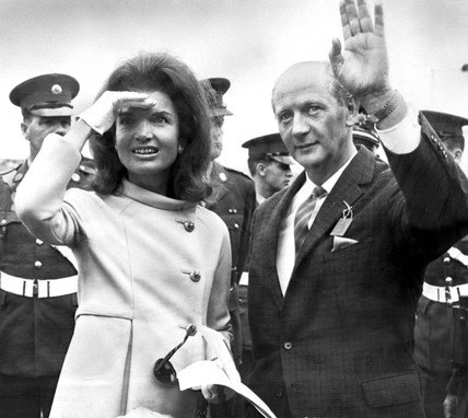 Jackie Kennedy with Irish premier Jack Lynch, Ireland, July 1967.