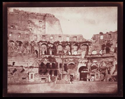 Interior of the Colosseum, Rome, c.1846.