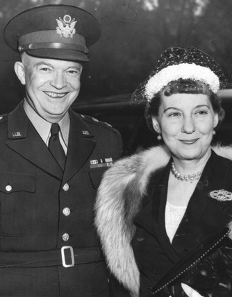 Ike and Mamie Eisenhower, Buckingham Palace, May 1952.