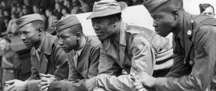 Black American servicemen, Manchester, July 1942.
