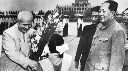 Khrushchev and Mao, China, 1958.