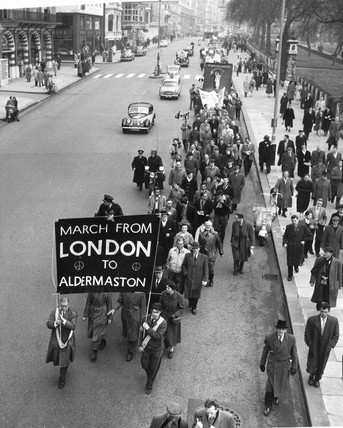 First London-Aldermaston march, London, April 1958.