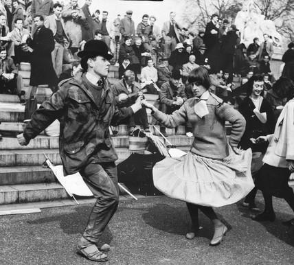 First London-Aldermaston march, London, April 1958.