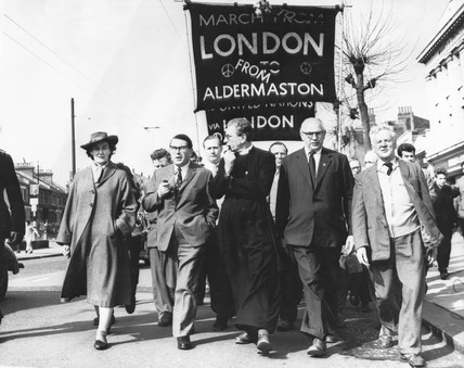 Aldermaston-London march, April 1962.