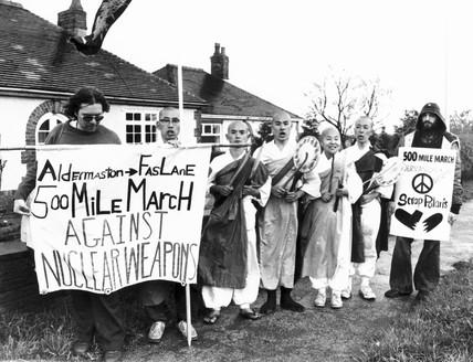 Aldermaston-Faslane 500-mile march against nuclear weapons, c 1980s.