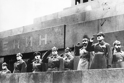 Red Army commanders, Lenin's tomb, Moscow, November 1935.
