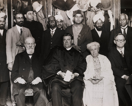 'Annie Besant at a Meeting of All Religions', c 1920.