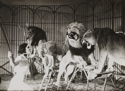 Bertram Mills Touring circus in training at Ascot, 1 April 1936.