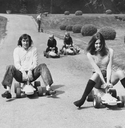 Jackie Stewart, wife and children, 1971.