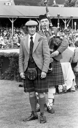 Jackie Stewart at Braemar gathering, September 1980.