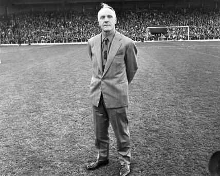 Bill Shankly at his testimonial, April 1975.